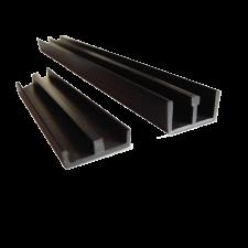 Schuifprofiel 4mm ondiep+diep zwart set 1 meter