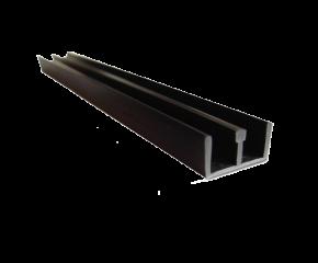 Schuifprofiel 4mm zwart diep