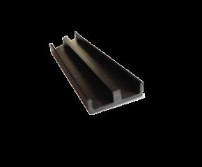 Schuifprofiel 4mm zwart ondiep