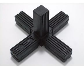 5 Poot Nylon met Staalkern Zwart