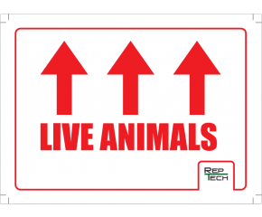 Transport sticker, live animals
