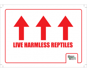 Transport sticker, Live Harmless Reptiles