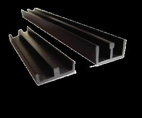 Schuifprofiel 4mm zwart set