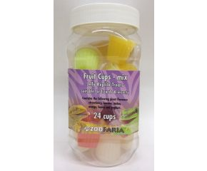 Fruit cups mix pot reptiel (24 st)