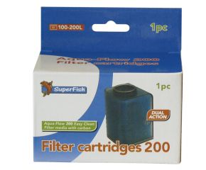 SuperFish Aqua Flow 200 Easy Click Cartridges 1 Stuks