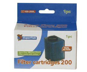 SuperFish Aqua Flow 200 Easy Click Cartridges 1 Stuks