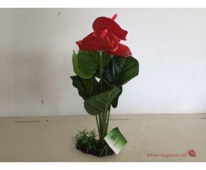 RepTech Terrarium Plant Red Flowers