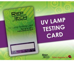 RepTech UV Lamp Testing Card