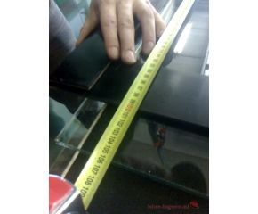 Glas 12 mm per m2 ongeslepen