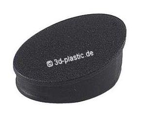 Plug voor Bar-Type Handvat Nylon zwart voor aluminium stellingen 25x25x1,5mm