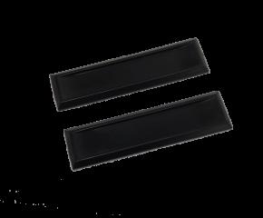 Handgrepen rechthoek zelfklevend zwart (per 2 stuks)
