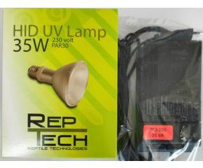 Set Tridonic Ballast 35W & RepTech HID lamp 35W