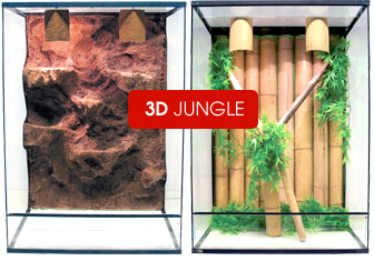 Blue-Lagoon 3D Jungle Terrarium Nieuw Design